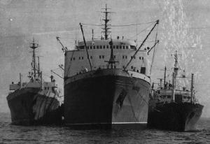 Soviet fish processing ships