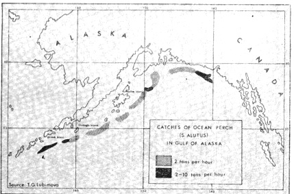 Chart of Soviet fishing in the Bering Sea during 1938