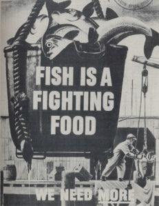 A federal government World War II poster on fishing