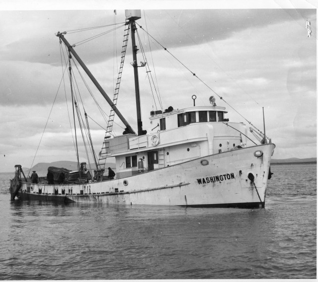 The Washington in the Bering Sea, Bureau of Commercial Fisheries photo