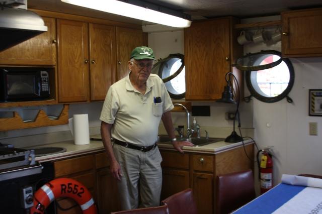 Bob Hitz in the Cobb's galley, Castle photo