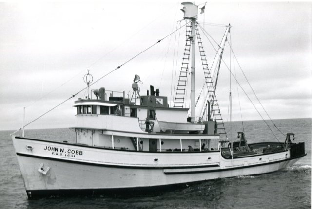 Cobb early 1960s, Hitz on the bridge, USFW photo
