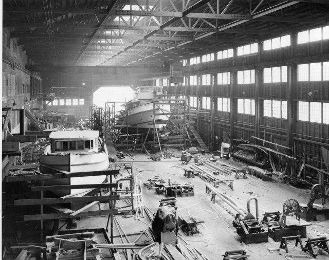Western Boat Shipyard, 250 feet long, BCF photo