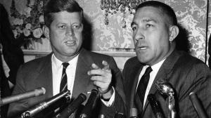 President Kennedy and Stewart Udall, University of Arizona photograph