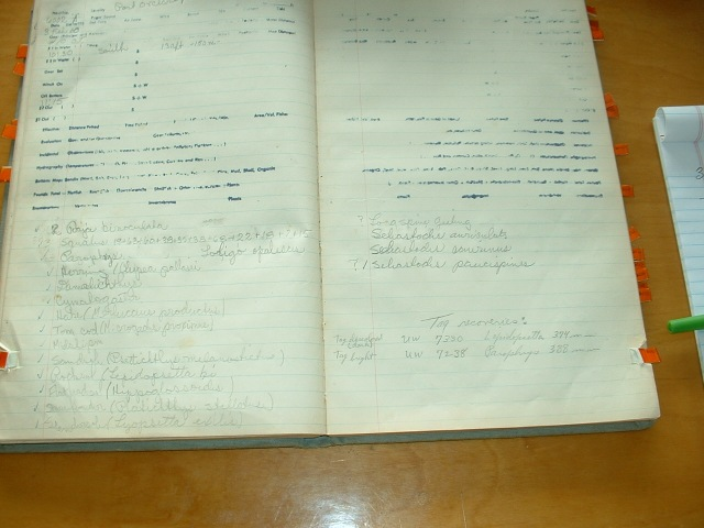 Commando's Log Book (Click to Enlarge)Hitz Photo