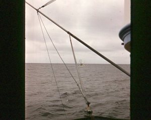 Commando's stabilizer pole rigged for outside waters,            another dragger in the background   Hitz Photo