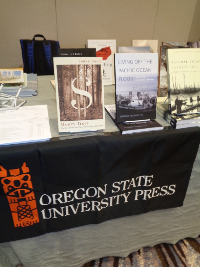 Moskovita Memoir at the OSU Book booth at the American Society for Environmental History in Seattle